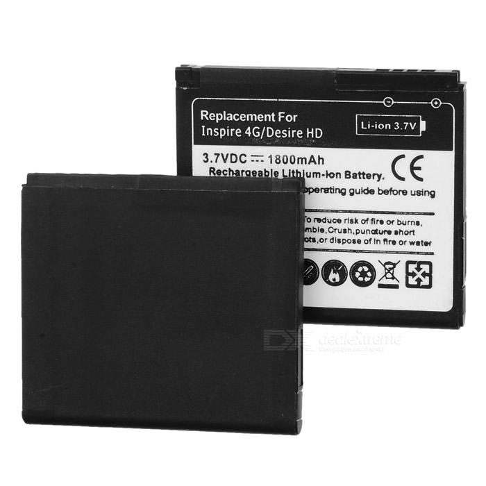 Replacement 3.7V 1600mAh Battery for HTC Desire HD (2 PCS)