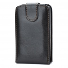 Protective PU Leather Case for HTC ChaCha G16 - Black