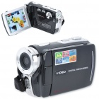 "5.0MP CMOS Digital Video Camcorder w / 8X Digital Zoom/2-LED/AV-Out/Dual-SD Slot (3,0 ""Touch Screen)"
