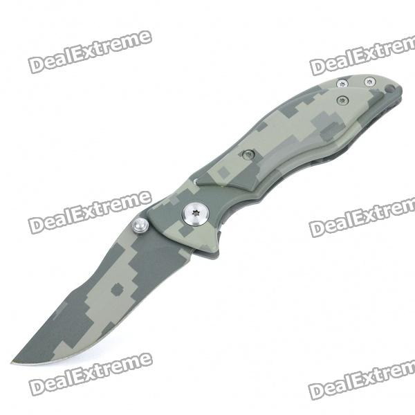 Portable Steel Folding Knife with Clip (7CM-Blade)
