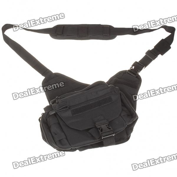 Military Tactical War Game Multi-Purpose Shoulder Bag - Black