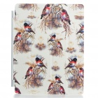 Stylish Protective Smart Cover for iPad 2 - Birds Pattern