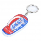 Flip-Flop Style Keychain with England Logo Image Pattern