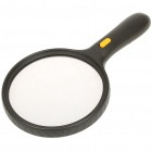 Handheld Double Magnification Magnifier with 3-LED White Light (4 x AAA)