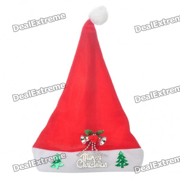 Christmas Hat with Silver Bells & Christmas Tree Ornaments