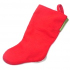Santa Claus Style Christmas Stocking Ornament - Red + Green + White