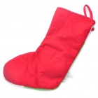 Santa Claus Style Christmas Stocking Ornament - Green + Red + White