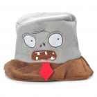 Plants vs Zombies Plüsch Zombies Stil Cosplay Cap Hat - Braun + Grau