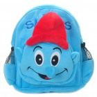 Cute The Smurfs Style Backpack Back Bag - Blue + Red