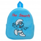 The Smurfs Style Plush Backpack Back Bag - Blue