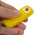USB Rechargeable Electronic Cigarette Lighter with White LED Light - Yellow