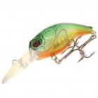 Lifelike Fish Style Fishing Bait with Treble Hooks - Golden + Green
