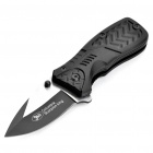 Stylish Folding Steel Knife with Scorpion Pattern
