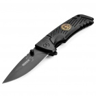 Portable Steel Knife with Clip - Black