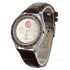 Stylish Water Resistant Leather Band Quartz Wrist Watch (1 x 377)