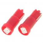 T5 0.14W 9-Lumen 3528 SMD LED Red Light Bulbs (DC 12 ~ 14V/Pair)