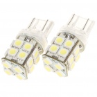 T20 3W 8000K 200LM 20x5050 LED White Light Bulbs for Car (Pair/12~14V)