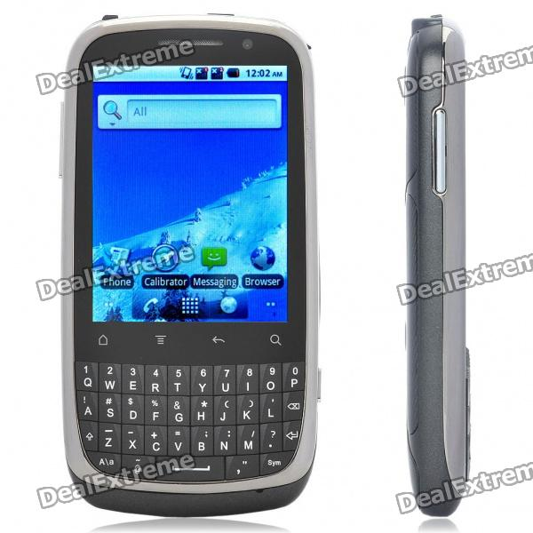 "G88 2.8"" Touch Screen Android 2.2 Dual SIM Quadband GSM Qwerty TV Smartphone w/ Wi-Fi - Black"