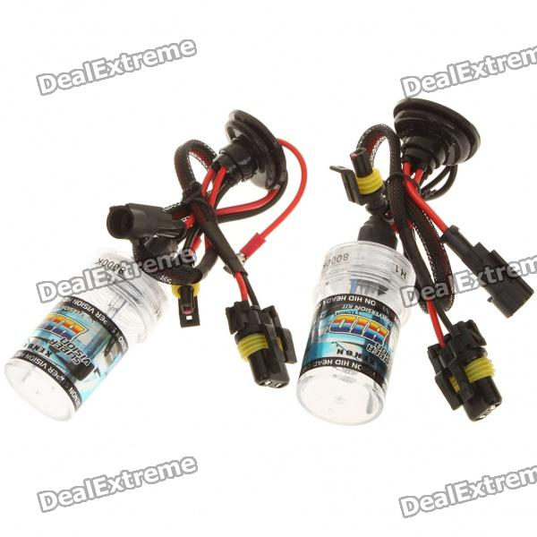 H1 36W 8000K 3300-Lumen White Light Xenon HID Headlamps (12V/Pair)