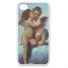 Protective Back Case with 3D Graphic for Iphone 4 - Angels Pattern