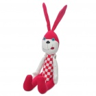 Stylish Fabric Art Rabbit Style Doll Toy - Red (Posture Adjustable)