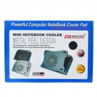 "USB Powerful Cooling Pad for 10"" Laptop/Tablet PC/Ipad/Ipad 2 - Black"
