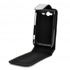 Protective Leather Case Bag for HTC A510e/Wildfire S/G13 G8S - Black