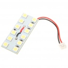 BA9S/T10/SV85 2W 6000K 300-Lumen 12x5050 SMD LED White Light Bulb for Car (12~14V)