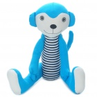 Stylish Fabric Art Monkey Style Doll Toy - Blue (Posture Adjustable)