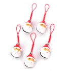 Cute Santa Claus Bell Cell Phone Straps - Red (5-Pack)