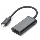 Micro USB to HDMI MHL Adapter for Samsung Galaxy S2 i9100/i997/HTC G14/Z710e/P510e - Black