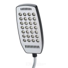 USB-driven flexibel hals 28-LED vit ljus