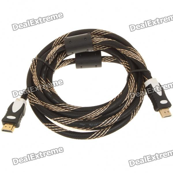 HDMI V1.4 1080P Male to Male Shielded Connection Cable - Black (3m)