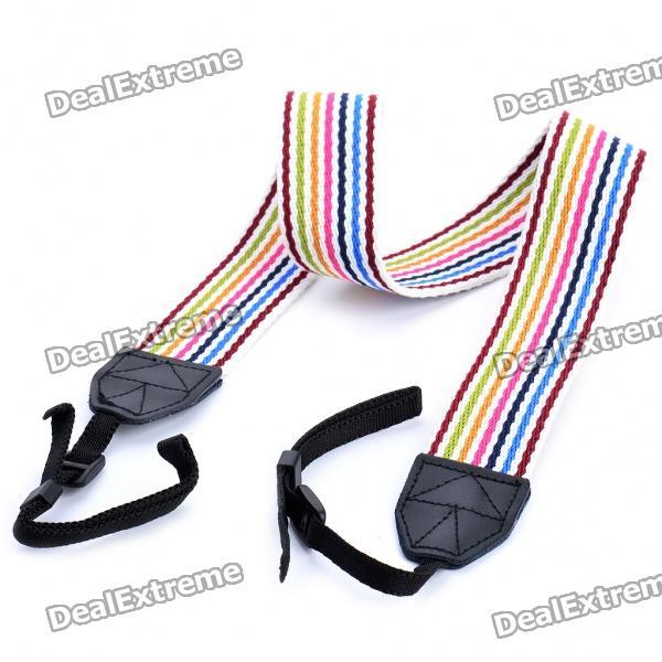 Universal Multi-Color Camera Camcorder Neck Shoulder Belt Strap - Random Color