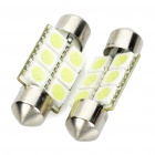 SV85 36mm 0,5 W 6500K 65lm 6-SMD LED White Lights für Car (Pair / 12V)