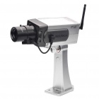 Realistische Dummy Surveillance Security Camera w / blinkende rote LED - Silver (3 x AA)
