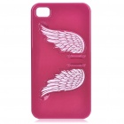 Charming Angel Wing Stand Back Case für iPhone 4 - Deep Red
