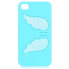 Charming Angel Wing Stand Back Case für iPhone 4 - Blue