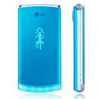 "Genuine LG lollipop GD580 2.8"" Screen 3G WCDMA Flip Phone w/ Java + FM - Blue"
