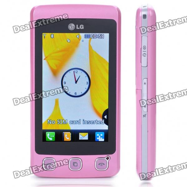 """Genuine LG Cookie KP500 3.0"""" Touch Screen GSM Quad-Band Bar Phone w/ Java + FM - Pink"""