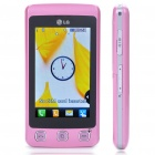 "Genuine LG Cookie KP500 3.0"" Touch Screen GSM Quad-Band Bar Phone w/ Java + FM - Pink"
