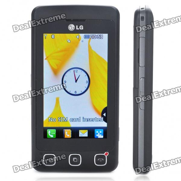 "Original LG Cookie KP500 3,0 ""Touch Screen GSM Quad-Band-Bar Telefon w / Java + FM - Black"