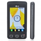 "Genuine LG Cookie KP500 3.0"" Touch Screen GSM Quad-Band Bar Phone w/ Java + FM - Black"