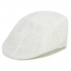 Vintage Cool Straw Woven Cap Hat - White