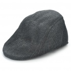 Jahrgang cool Straw Woven Cap Hat - Black