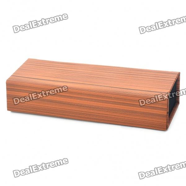 Elegante Faux Wood Grain Karton + Leder Glasses Box Case - Brown