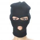 Outdoor Sports Warm Knit Balaclava Face Mask - Black