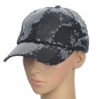 Fashion Casual Sequin Cap Hat - Black