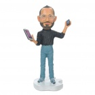 Remembering Steve Jobs Cute Resin Statue Figure Toy - Glasses Style