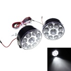 5.4W 6500K 800LM 9-LED White Light Daytime Running Lamps for Car (Pair/DC 10~16V)